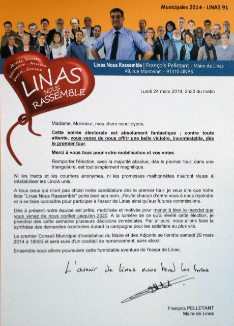 L'avenir de Linas nous tend les bras
