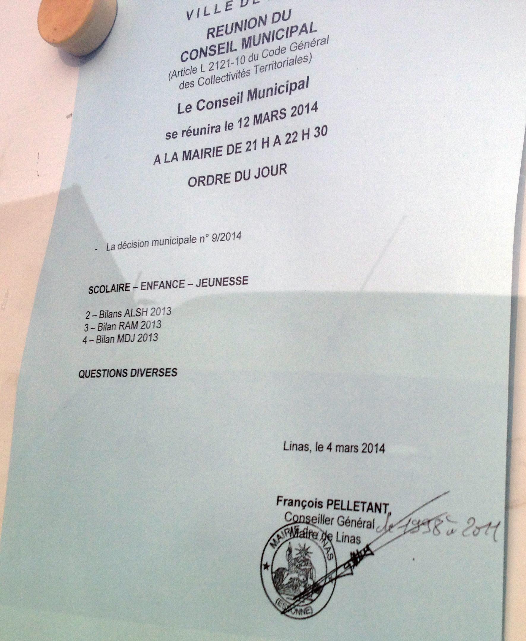 """""""conseiller général"""" : fin de polémique"""