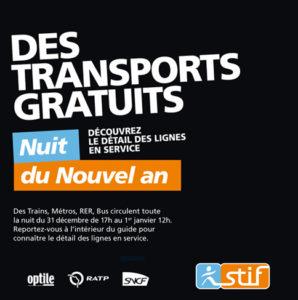 Transports gratuits pour la Nuit du Nouvel An 2015