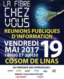 Réunion publique d'ouverture de la fibre optique le 19 mai à Linas