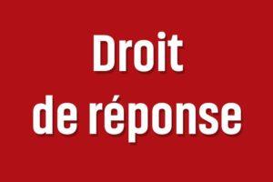 Droit de réponse à Essonneinfo.fr