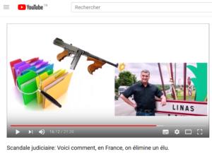 Capture d'écran de la video sur l'affaire du maire de Linas
