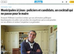 """Extrait du site Internet du journal """"Le Parisien"""" du 15 novembre 2019"""